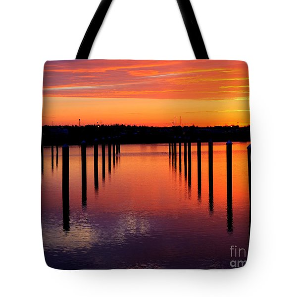 Winchester Bay Sunset Tote Bag