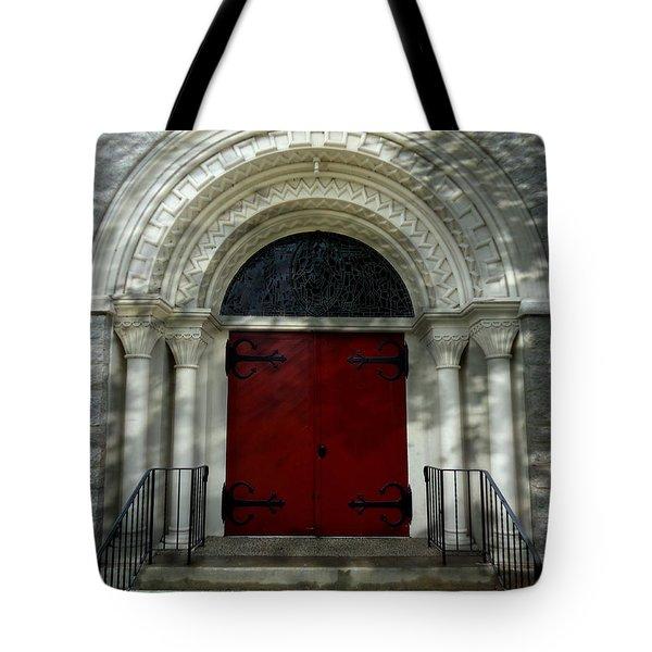 Tote Bag featuring the photograph Winchester Church by Joseph Skompski