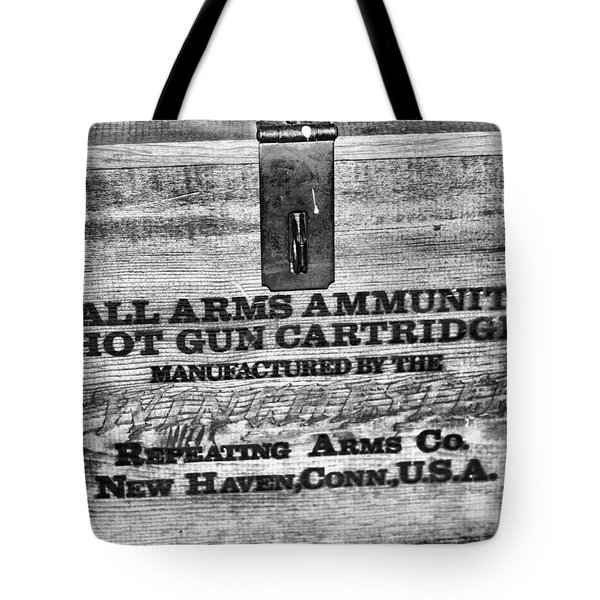 Winchester In Black And White Tote Bag
