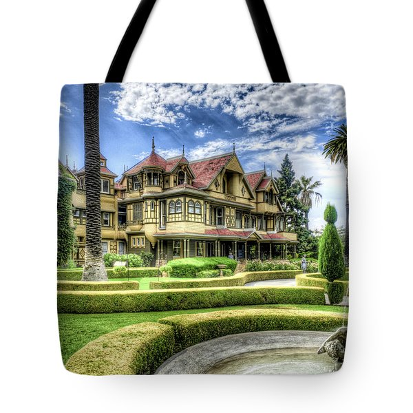 Tote Bag featuring the photograph Winchester Mystery House by Jim Thompson