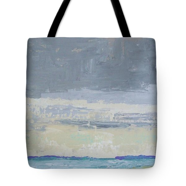 Wind And Rain On The Bay Tote Bag