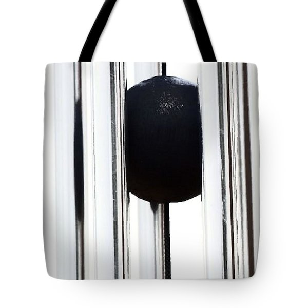 Wind Chime In Black And White Tote Bag