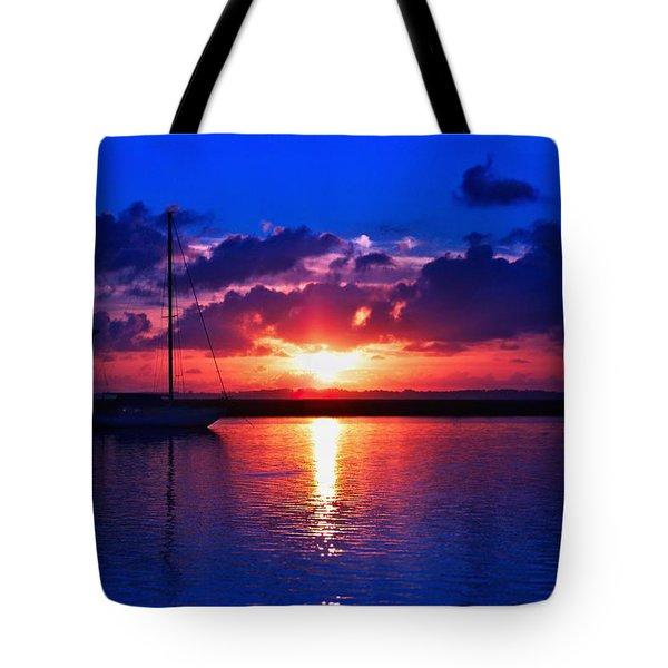 Wind Fall Sunrise Tote Bag