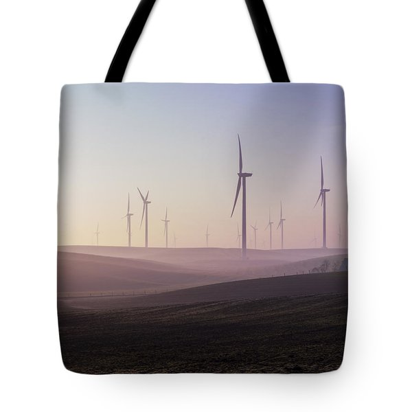 Wind Farm At Dawn Tote Bag