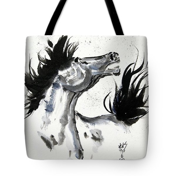 Tote Bag featuring the painting Wind Fire by Bill Searle