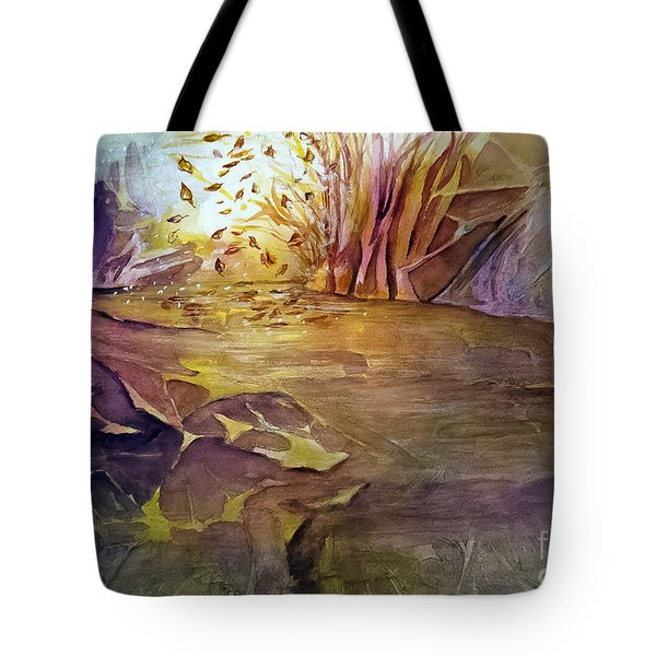 Tote Bag featuring the painting Wind In Fall by Allison Ashton