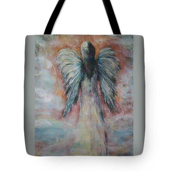 Wind In My Wings, Angel Tote Bag