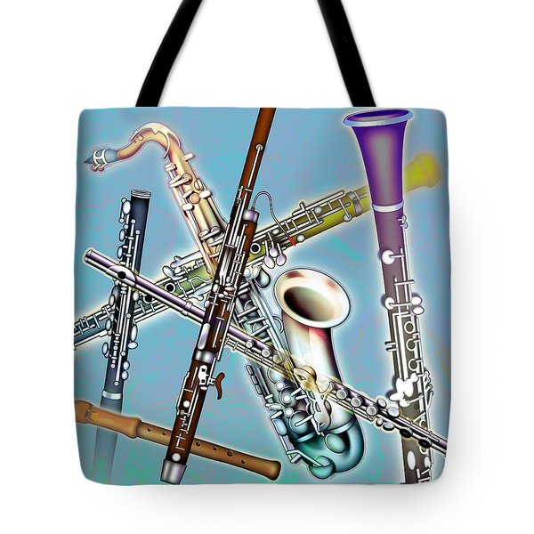 Wind Instruments Tote Bag by Design Pics Eye Traveller
