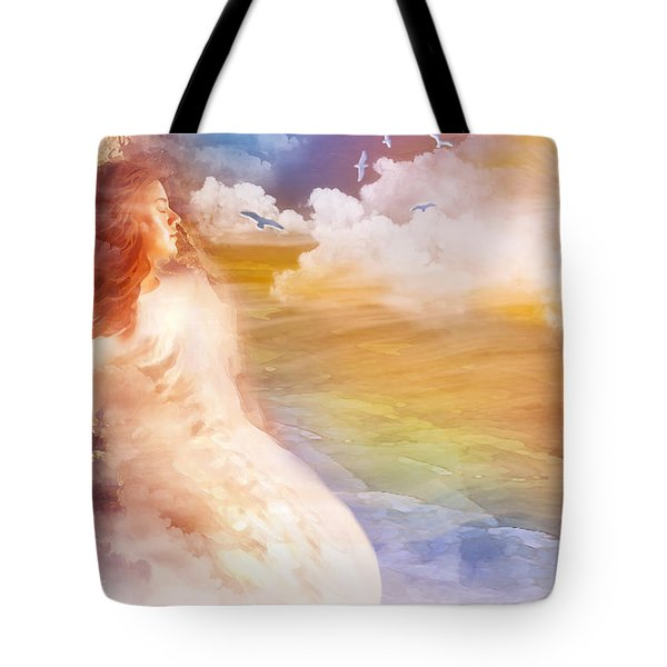 Wind Of His Glory Tote Bag by Jennifer Page