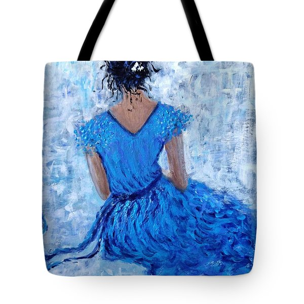 Tote Bag featuring the painting Wind Of Hope.. by Cristina Mihailescu