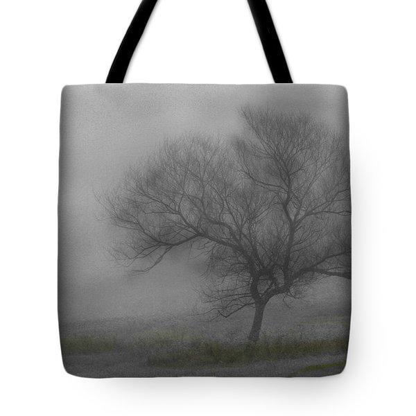 Wind Swept Tree Tote Bag