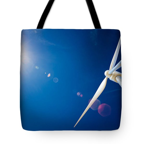 Wind Turbine And Sun  Tote Bag