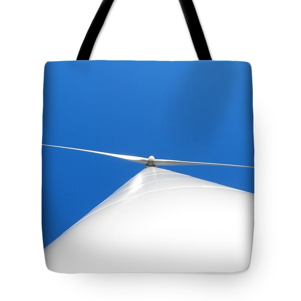 Wind Turbine Blue Sky Tote Bag