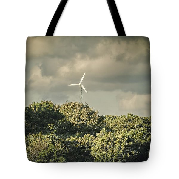 Tote Bag featuring the photograph Wind Turbine Falmouth Cape Cod Ma by Marianne Campolongo