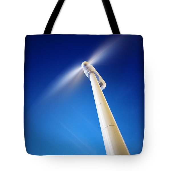 Wind Turbine From Below Tote Bag