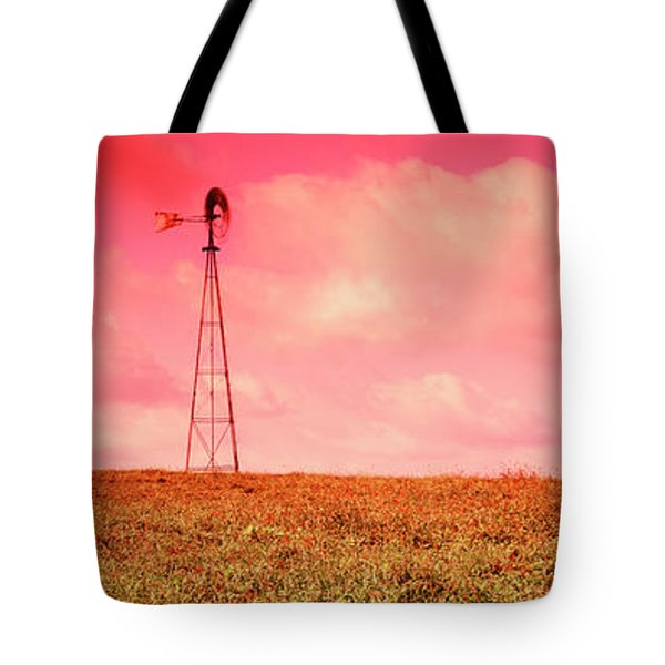 Wind Turbine In A Field, Amish Country Tote Bag