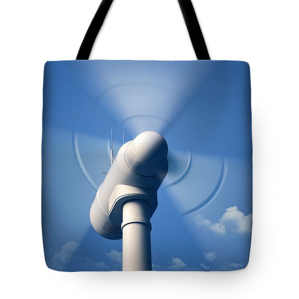 Wind Turbine Rotating Close-up Tote Bag