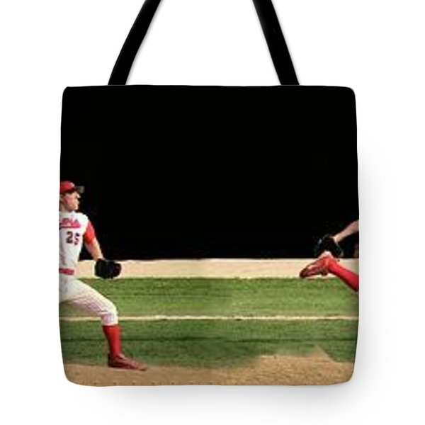 Wind Up And Delivery 4 Panel Composite Digital Art Tote Bag by Thomas Woolworth