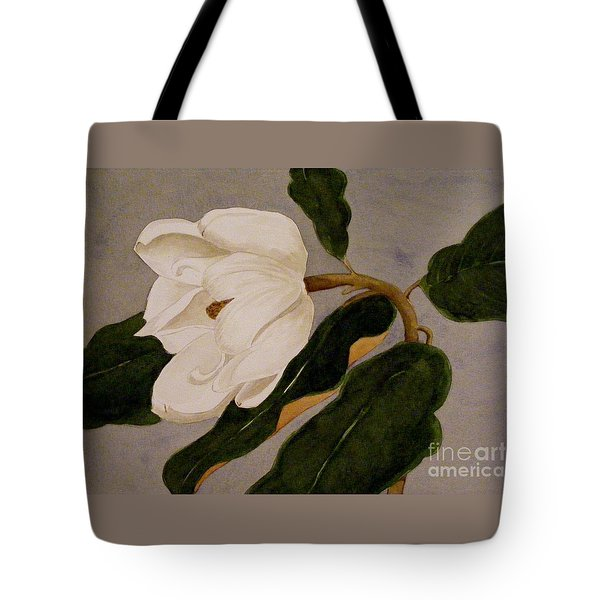 Tote Bag featuring the painting Windblown Magnolia by Nancy Kane Chapman