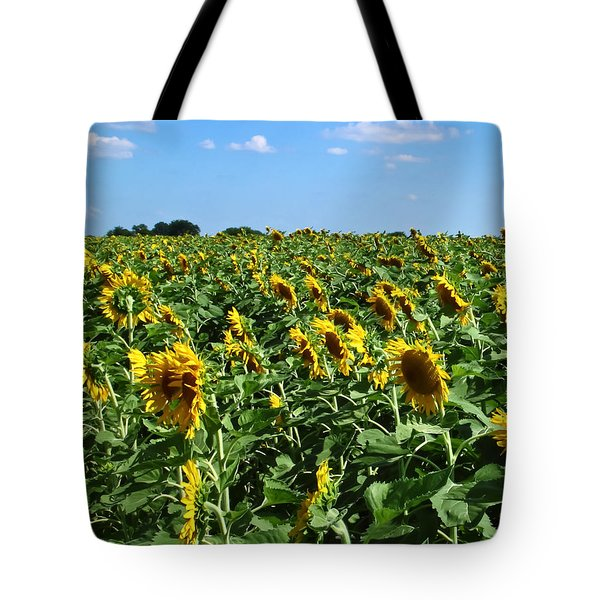 Windblown Sunflowers Tote Bag