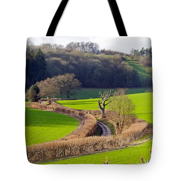 Winding Country Lane Tote Bag