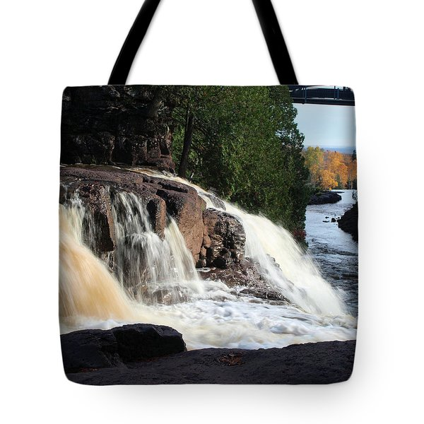 Tote Bag featuring the photograph Winding Falls by James Peterson