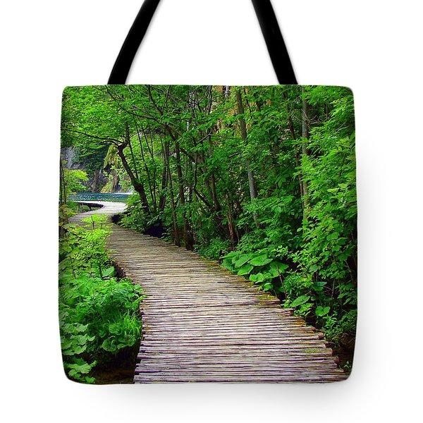 Winding Path Tote Bag