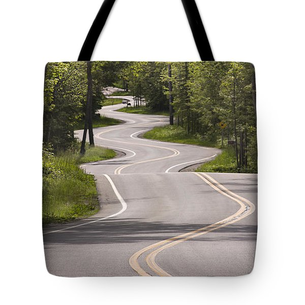 Winding Road Door County Tote Bag