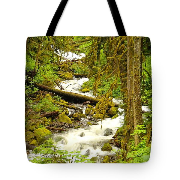Winding Through The Forest Tote Bag by Jeff Swan
