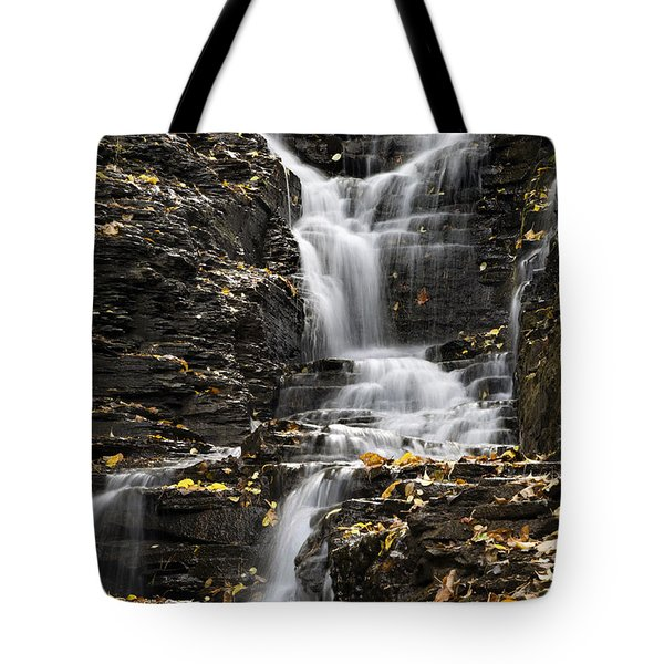 Tote Bag featuring the photograph Winding Waterfall by Christina Rollo