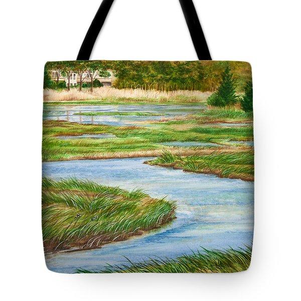 Winding Waters - Cape Salt Marsh Tote Bag by Michelle Wiarda