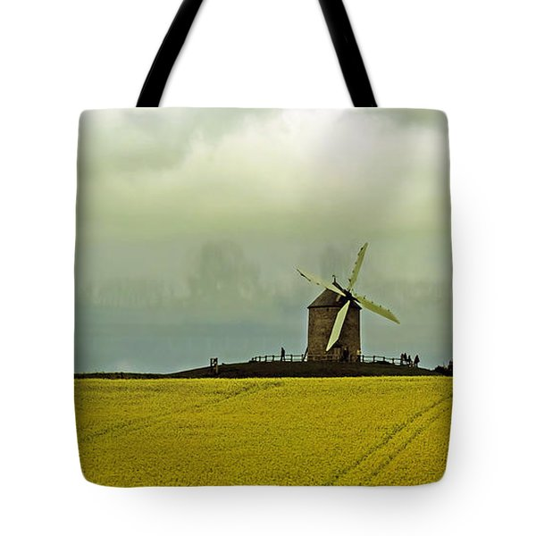 Windmill And Rapeseed And Storm Tote Bag