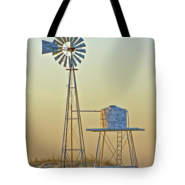 Windmill At Dawn 2011 Tote Bag