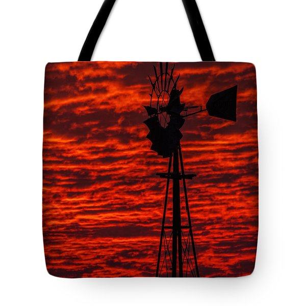 Tote Bag featuring the photograph Windmill At Sunset by Rob Graham
