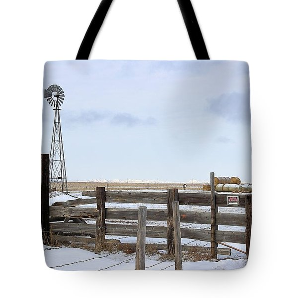 Windmill At The Corral Tote Bag