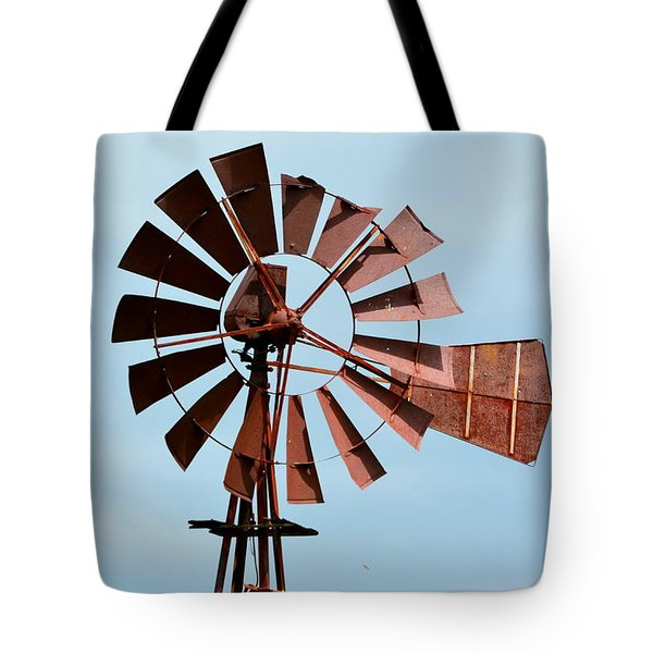 Tote Bag featuring the photograph Windmill by Cathy Shiflett