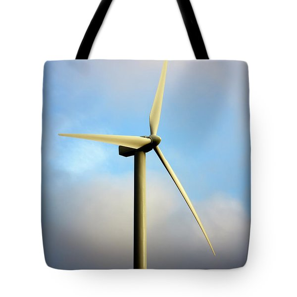 Windmill Dark Blue Sky Tote Bag
