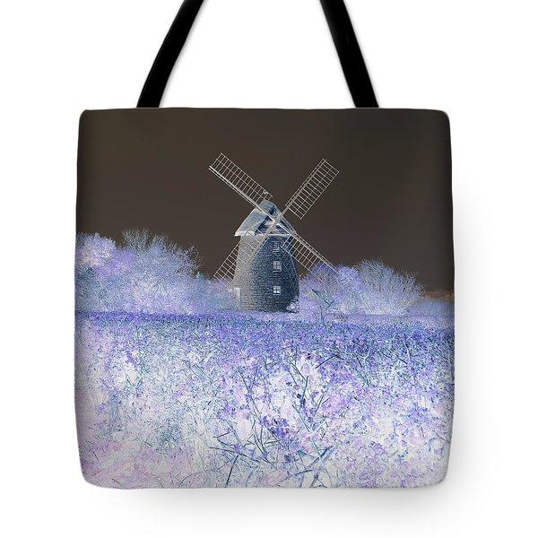 Windmill In A Purple Haze Tote Bag