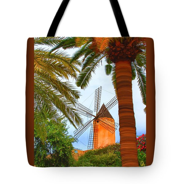 Windmill In Palma De Mallorca Tote Bag