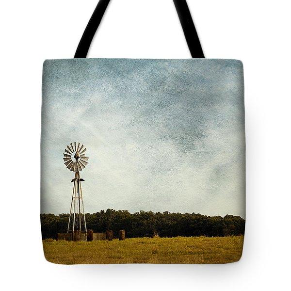 Windmill On The Farm Tote Bag