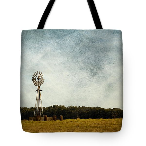 Windmill On The Farm Tote Bag