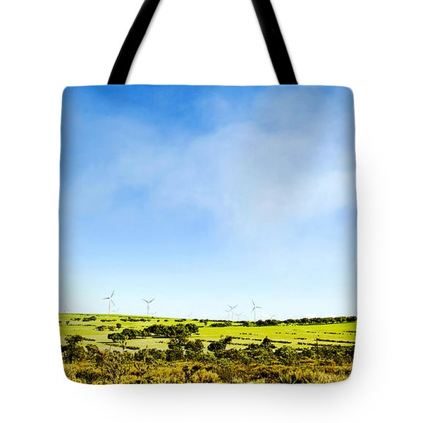 Tote Bag featuring the photograph Windmill by Yew Kwang