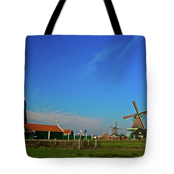 Windmills At Zaanse Schans Tote Bag by Jonah  Anderson