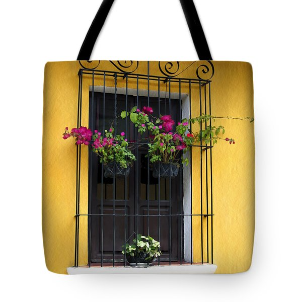 Window At Old Antigua Guatemala Tote Bag by Kurt Van Wagner
