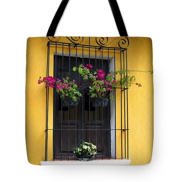 Window At Old Antigua Tote Bag by Kurt Van Wagner