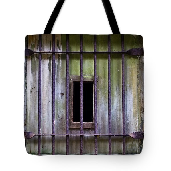 Window At The Fort Tote Bag by Marie Jamieson