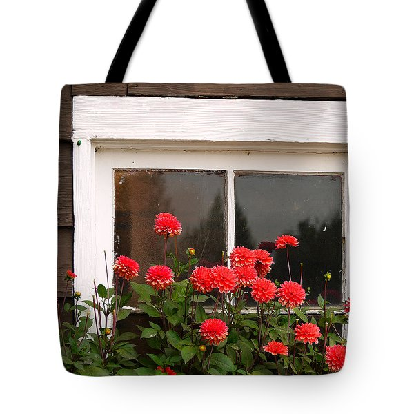 Tote Bag featuring the photograph Window Box Delight by Jordan Blackstone