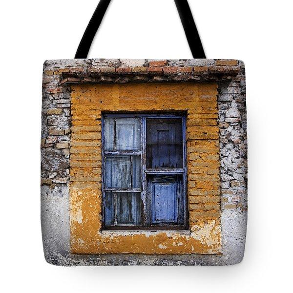 Window Detail Mexico Square Tote Bag