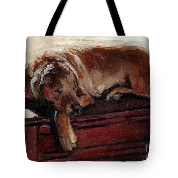 Tote Bag featuring the painting Window Dresser by Molly Poole
