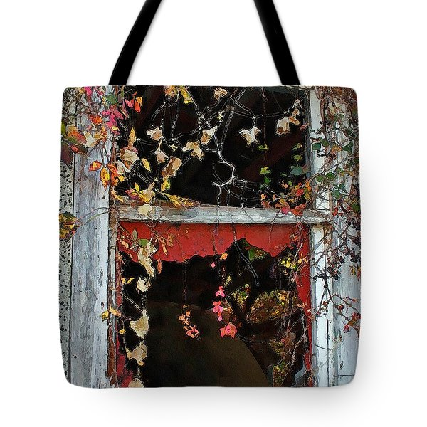Tote Bag featuring the photograph Window Of A Time Gone By by Ellen Tully